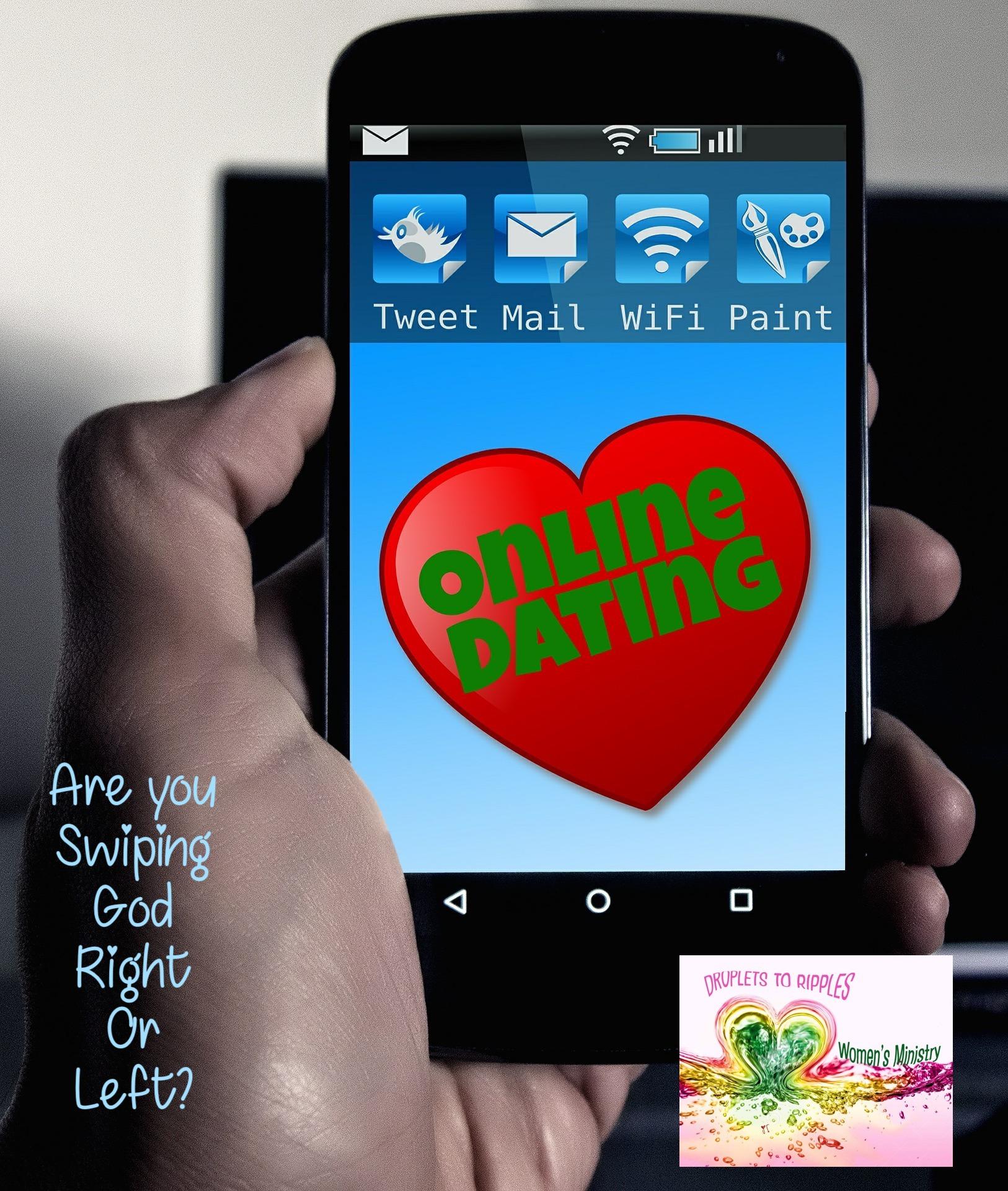 Online dating where you swipe